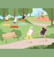 elderly park activity older people grandparents vector image
