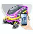 electric car phone navigation system vector image