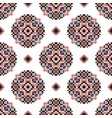 fair isle rosette pattern swatch knitted vector image vector image