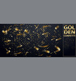 falling shiny glitter gold confetti isolated vector image vector image
