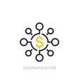 financial diversification diversified investment vector image vector image