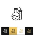 Flask and beaker equipment lab icon