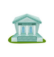 flat icon of museum building exterior with vector image vector image