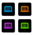 glowing neon laptop icon isolated on white vector image