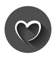 hand drawn hearts icon love sketch doodle heart vector image