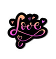 hand drawn love badge icon vector image