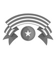 independence day band icon monochrome vector image vector image