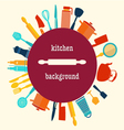 Kitchen utensil-background vector image vector image