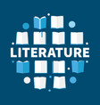 literature round flat - modern vector image vector image