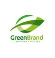 logo green leaf ecology nature element vector image vector image