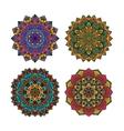 Mandala pattern flower set vector image vector image