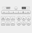 media interface buttons set vector image vector image