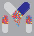 medicinal capsule icon pharmacy symbol vector image