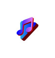 play and note music logo design vector image vector image