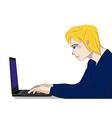 Programmer Working Man vector image vector image