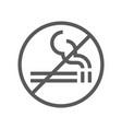 public navigation line icon no smoking vector image vector image