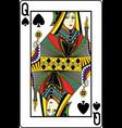 queen of spades vector image vector image