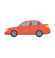 red car with female driver side view vector image vector image