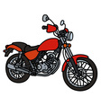 Red light motorcycle vector image