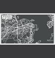 rio de janeiro map in retro style vector image