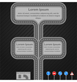 Road infographics template vector image vector image