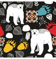 Seamless pattern with bears of northern pole vector image vector image