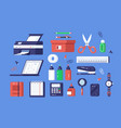 set various stationery vector image vector image