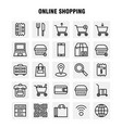 shopping line icon pack for designers and vector image vector image