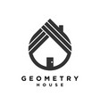 simple abstract home logo vector image vector image