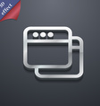 Simple Browser window icon symbol 3D style Trendy vector image