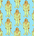Sketch cute vintage diving suit vector image vector image