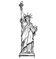 sketchy statue liberty wearing face vector image vector image