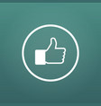 social media hand thumb up icon flat in circle vector image