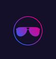 sunglasses icon ultraviolet vector image vector image