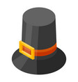 thanksgiving hat icon isometric style vector image vector image