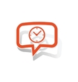 Time message sticker orange vector image vector image