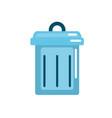 trash can symbol icon vector image vector image