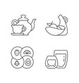 trendy kitchenware linear icons set vector image vector image