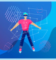 virtual reality concept enthusiastic young man vector image