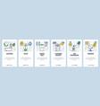 web site onboarding screens bathroom accessories vector image