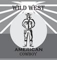 wild west vector image vector image