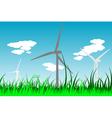 windmills 2 vector image vector image