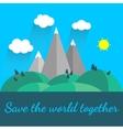 world environment vector image