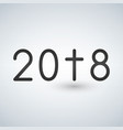year 2018 with cross christian concept vector image vector image