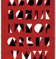 Alphabet geometric shapes vector image
