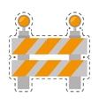 road barrier stop warning light cut line vector image