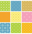 set of light various patterns for background vector image