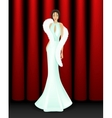 Elegant women on stage vector image