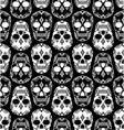 Skull pattern design vector image