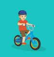 a young kid riding a bicycle vector image